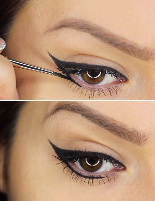 how to apply liquid eyeliner step by step