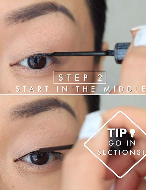 how to apply liquid eyeliner perfectly for beginners
