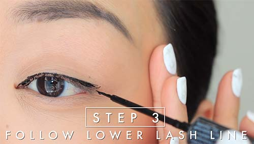 how to apply liquid eyeliner step by step pictures