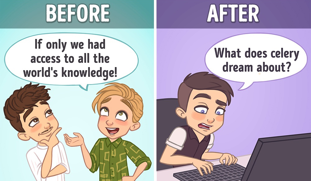 11 Illustrations Show That How Much the Internet Has Changed Our Lives