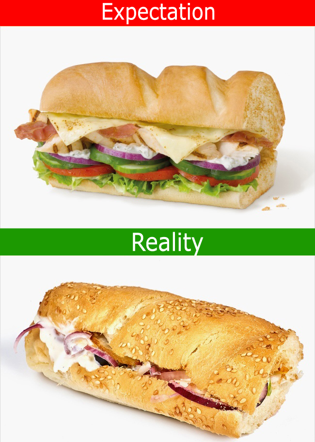 16 Pictures Of Fast Food Commercials vs Reality