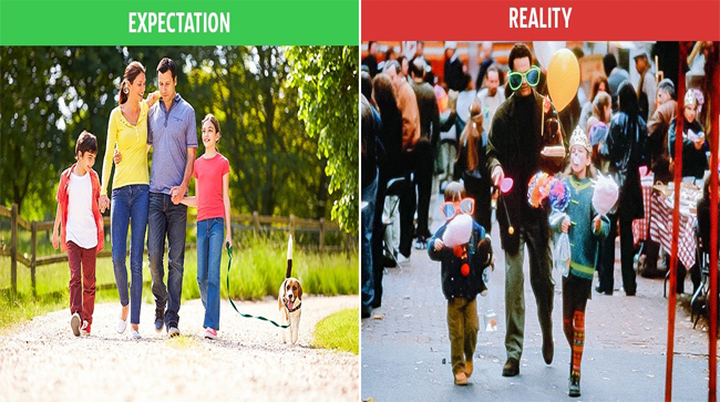 10 Picture of Family Life: Expectation vs. Reality
