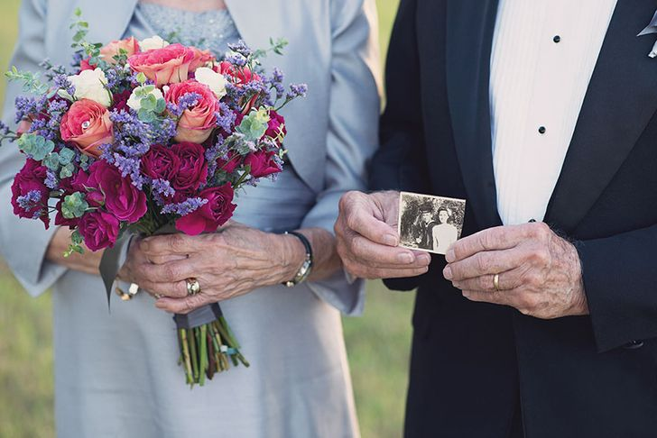 This Couple Waited 70 Years to Take Their Wedding Pictures